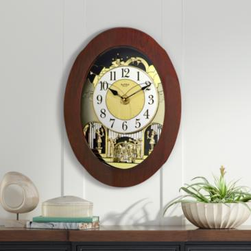 "Grand Nostalgia Entertainer Cherry 20 3/4""H Wall Clock"