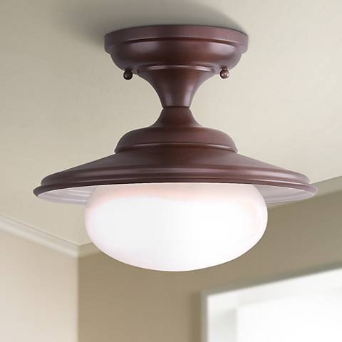 "Independence Collection 11"" Wide Old Bronze Ceiling Light"