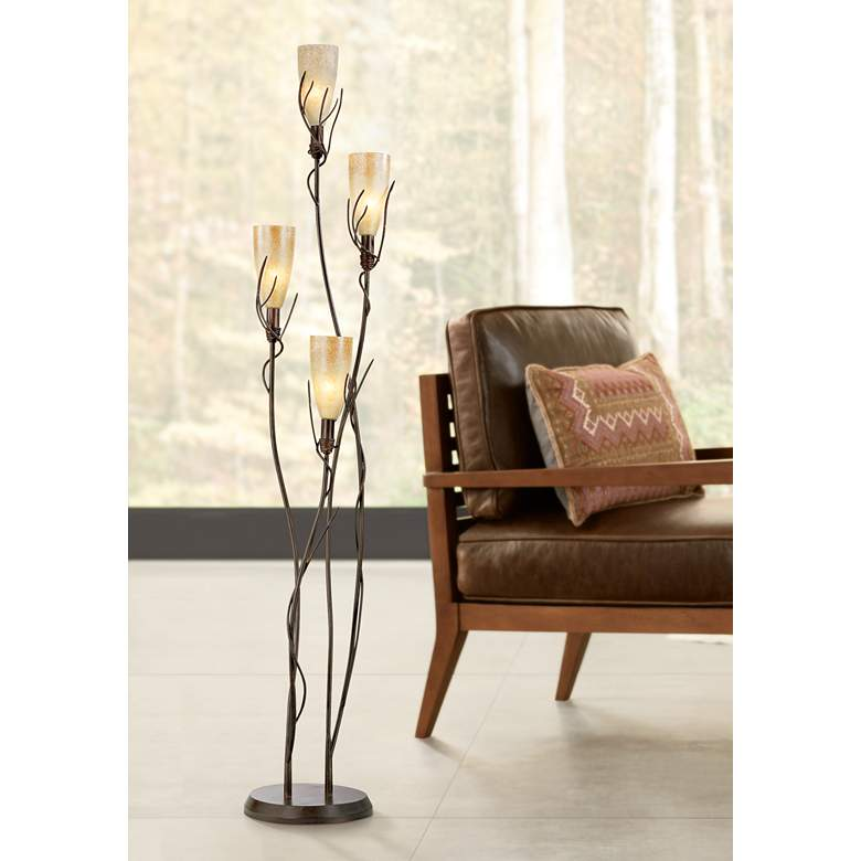 El Dorado 4 Light Torchiere Floor Lamp
