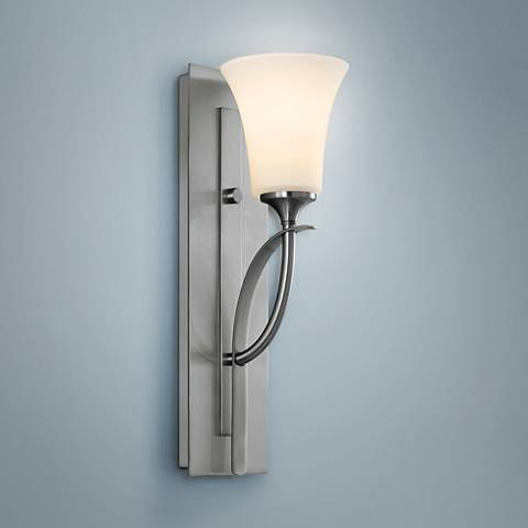 Feiss Barrington One Light Brushed Steel Wall Sconce