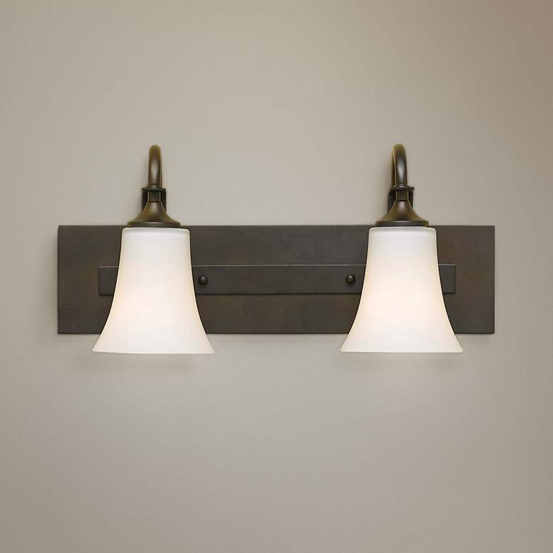 "Feiss Barrington 18"" Wide Bronze Two Light Bath"