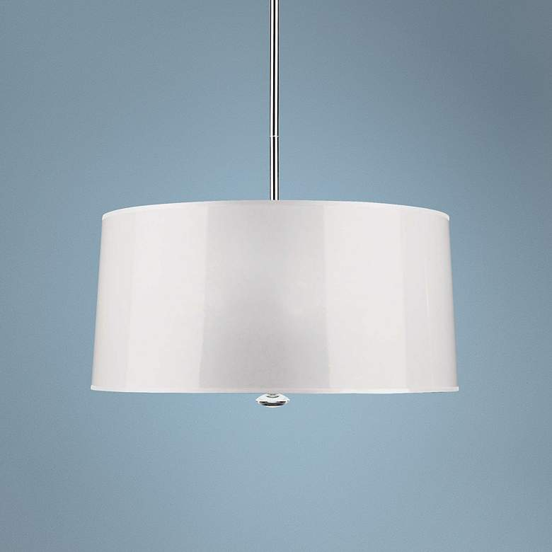 "Penelope 25 1/2"" Wide White Pendant Light by"