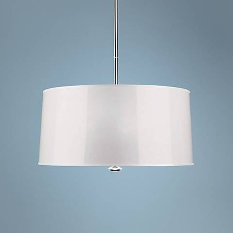 "Penelope 25 1/2"" Wide White Pendant Light by Robert Abbey"