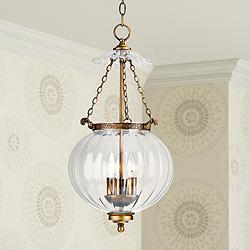 "Camden Collection 12"" Wide Brass Finish Mini Pendant"