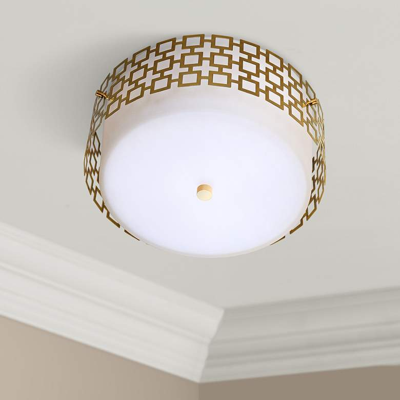Jonathan Adler Parker 15 1 4 Wide Br Ceiling Light
