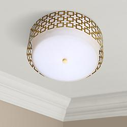 "Jonathan Adler Parker 15 1/4"" Wide Brass Ceiling Light"
