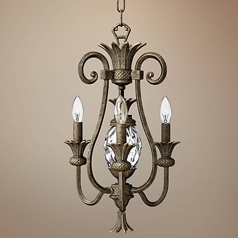 Hinkley Plantation Collection Pearl Bronze Petite Chandelier