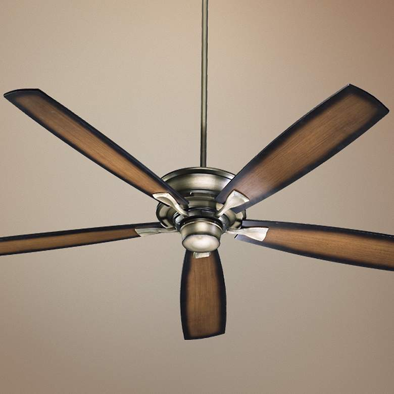 "70"" Quorum Alton Collection Antique Flemish Ceiling Fan"