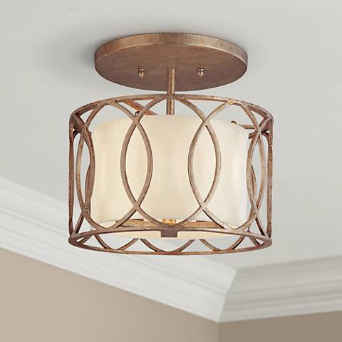 "Sausalito 12 1/4"" Wide Semi-Flushmount Ceiling Light"