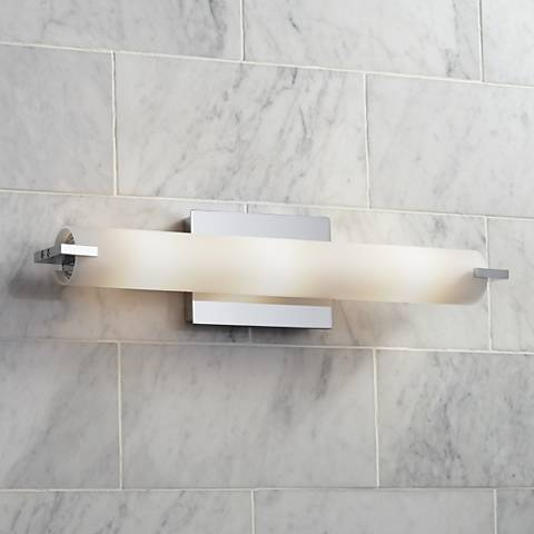 "George Kovacs Chrome 20 1/2"" Wide ADA Bathroom Light"