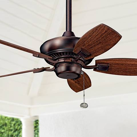 "30"" Kichler Canfield Bronze Indoor Outdoor Ceiling Fan"