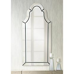 "Uttermost Hovan Polished 21"" x 44"" Arched Wall Mirror"