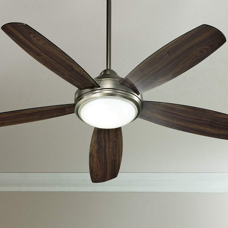 "52"" Quorum Colton Antique Silver Finish Ceiling Fan"