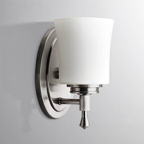 "Kichler Wharton 9"" High Brushed Nickel Wall Sconce"