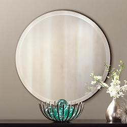 "Cooper Classic Seymour Brown 29"" Round Wall Mirror"