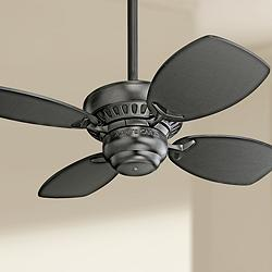 "28"" Colony II Matte Black Finish Ceiling Fan"