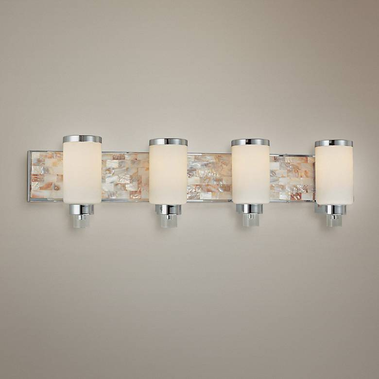 "Cashelmara Collection 34"" Wide Chrome 4-Light Bath Light"