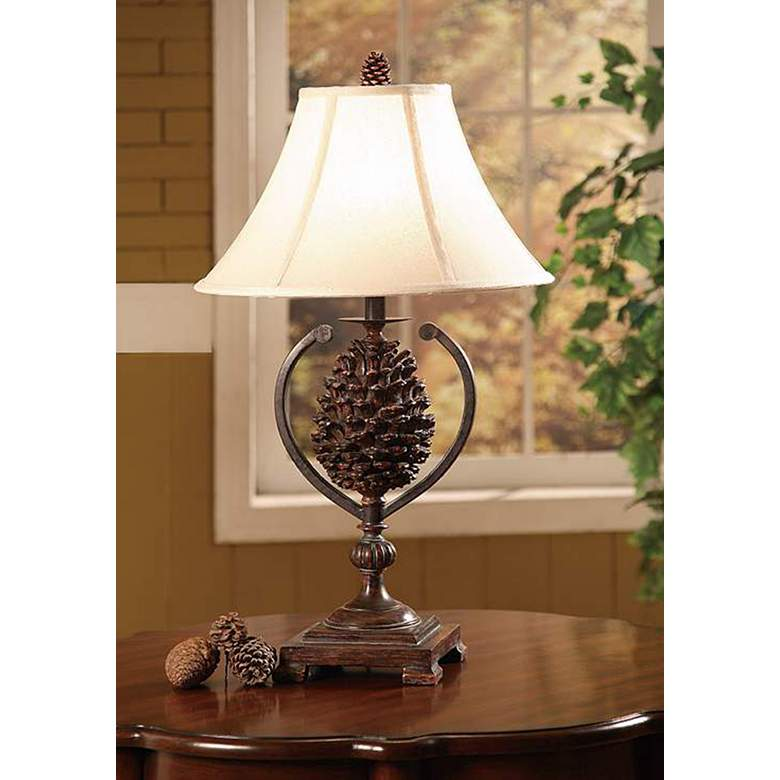 Hunters Walk Pine Cone Table Lamp