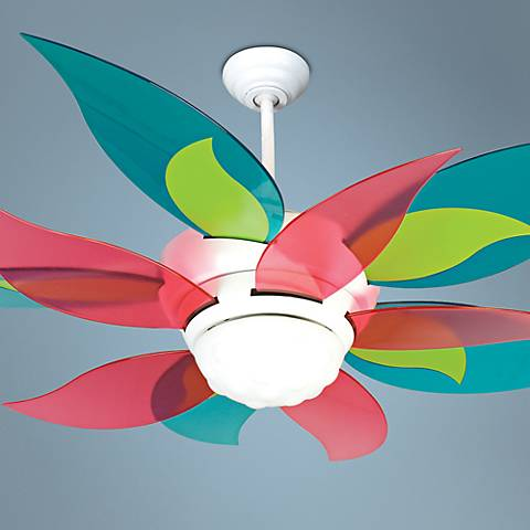 "52"" Craftmade Bloom Clear Colors Ceiling Fan with Light"