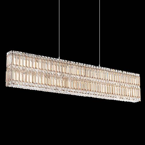 "Schonbek Quantum Golden Shadow 47"" Wide Crystal Chandelier"