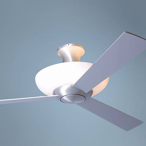 "52"" Aurora Hugger Aluminum Finish Uplight Ceiling Fan"
