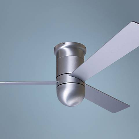 "52"" Modern Fan Cirrus Aluminum Finish Hugger Ceiling Fan"
