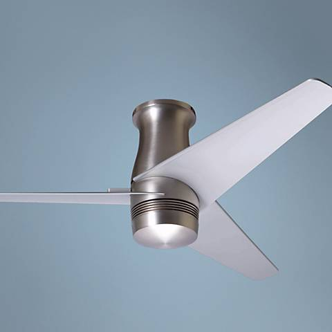 "48"" Modern Fan Velo Bright Nickel Hugger Ceiling Fan"