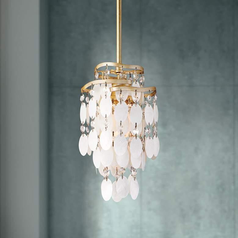 Dolce Capiz S 7 Wide Mini Pendant Light