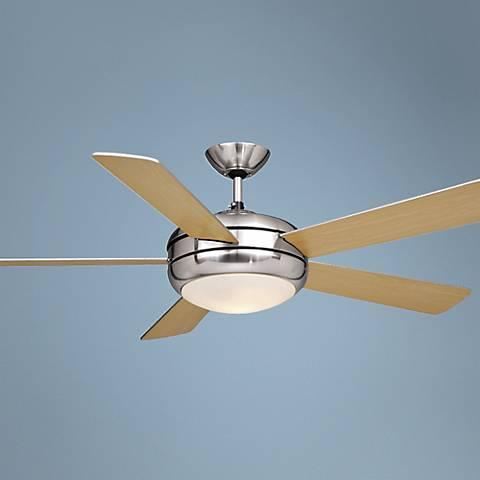 "52"" Vaxcel Rialta Satin Nickel Finish Ceiling Fan"