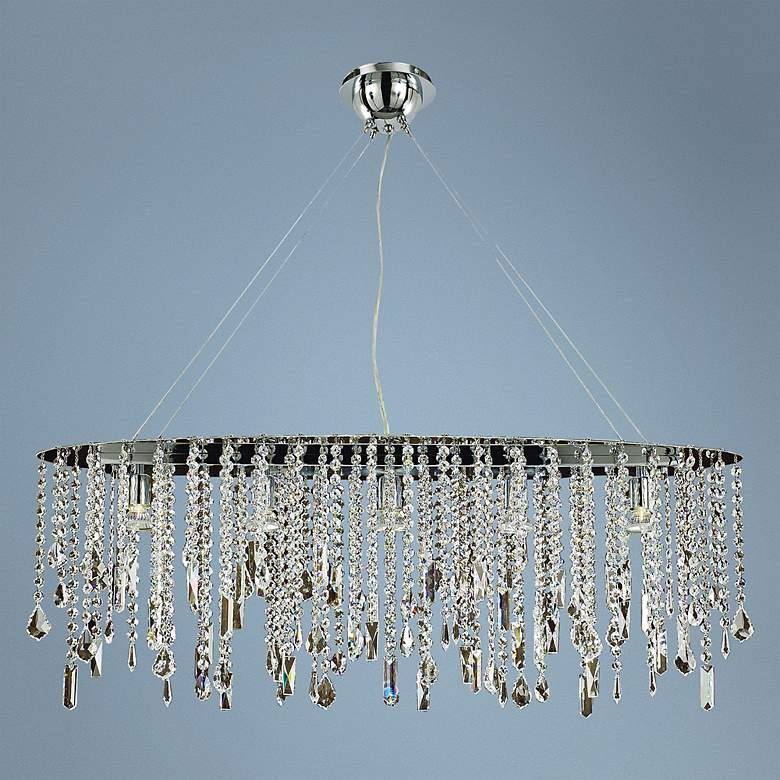 "Divine Ice Swarovski Elements 38"" Wide Ceiling Pendant Light"