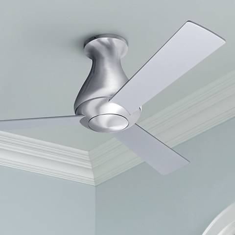 42 modern fan altus aluminum finish flush mount ceiling fan 42 modern fan altus aluminum finish flush mount ceiling fan mozeypictures Gallery