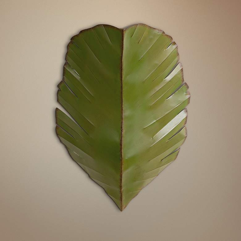 Miraculous Varaluz Banana Leaf Collection 17 High Tropical Wall Sconce Machost Co Dining Chair Design Ideas Machostcouk