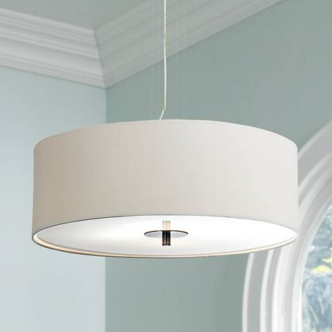 White Four Light 24 Quot Wide Pendant Chandelier J9972