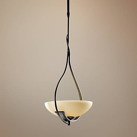 "Hubbardton Forge Lyra 12"" Wide Burnished Steel Mini Pendant"