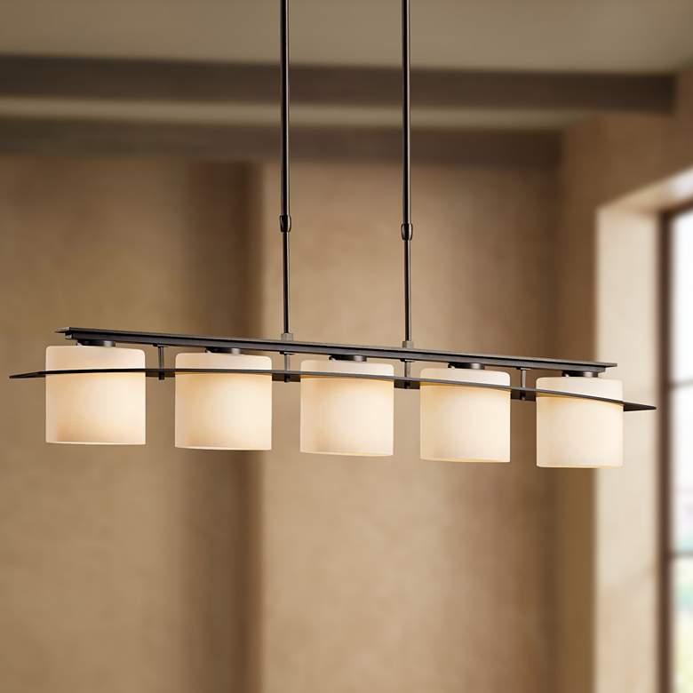 Hubbardton Forge Arc Ellipse 5 Light Wrought Iron Chandelier