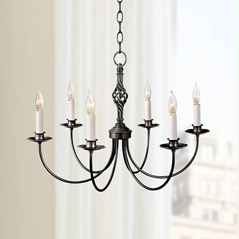 Hubbardton Forge Natural Iron Twist Basket Chandelier
