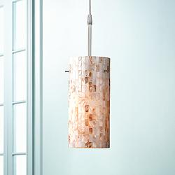 "Lite Source Schale 5"" Wide Mosaic Shell Mini Pendant"