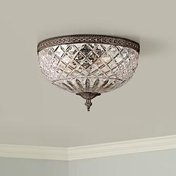 "Crystorama Majestic English Bronze 12"" Wide Ceiling Light"