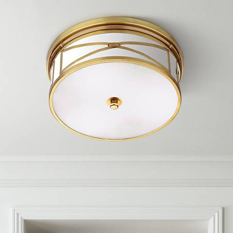 "Robert Abbey Chase Brass 15"" Wide Flushmount Ceiling Light"