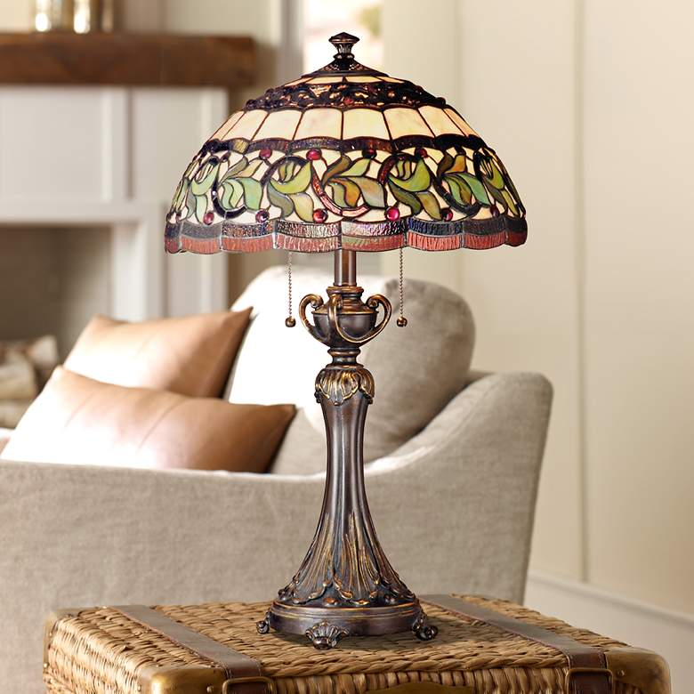 Dale Tiffany Aldridge Art Gl Table Lamp