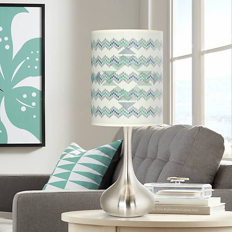 Triangular Stitch Giclee Droplet Table Lamp