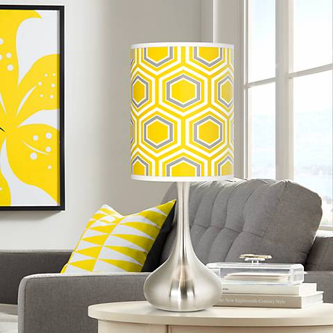 Honeycomb Giclee Droplet Table Lamp