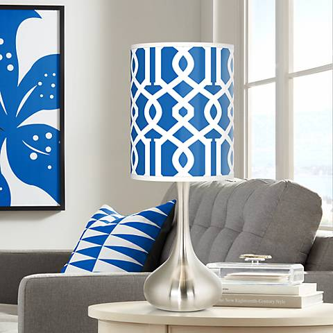 Chain Reaction Giclee Droplet Table Lamp