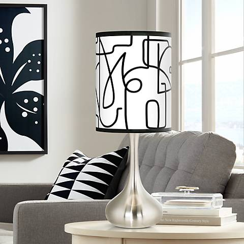 Scribble World Giclee Droplet Table Lamp