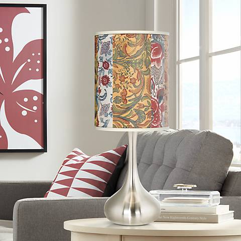 Bohemian Blooms Giclee Droplet Table Lamp