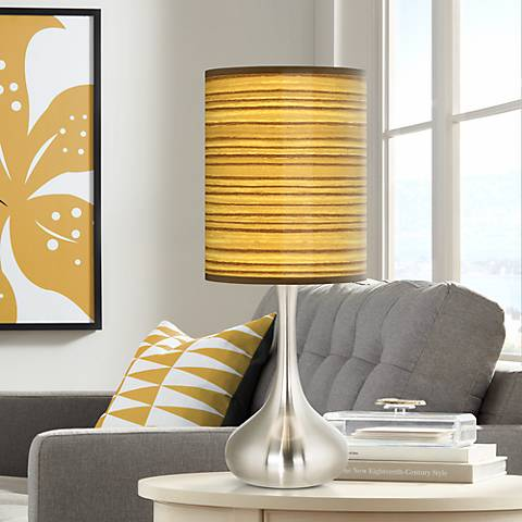Tawny Zebrawood Giclee Droplet Table Lamp