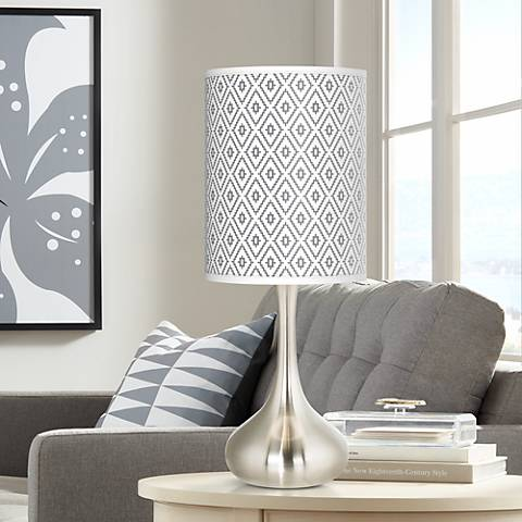 Diamonds Giclee Droplet Table Lamp