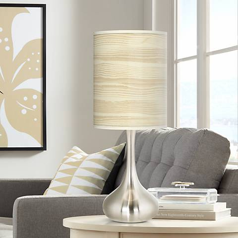 Birch Blonde Giclee Droplet Table Lamp