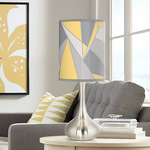 Modern Mosaic II Giclee Droplet Table Lamp