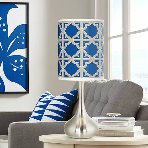 Four Corners Giclee Droplet Table Lamp